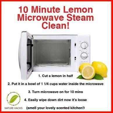 10 Minute Microwave Lemon Steam Clean