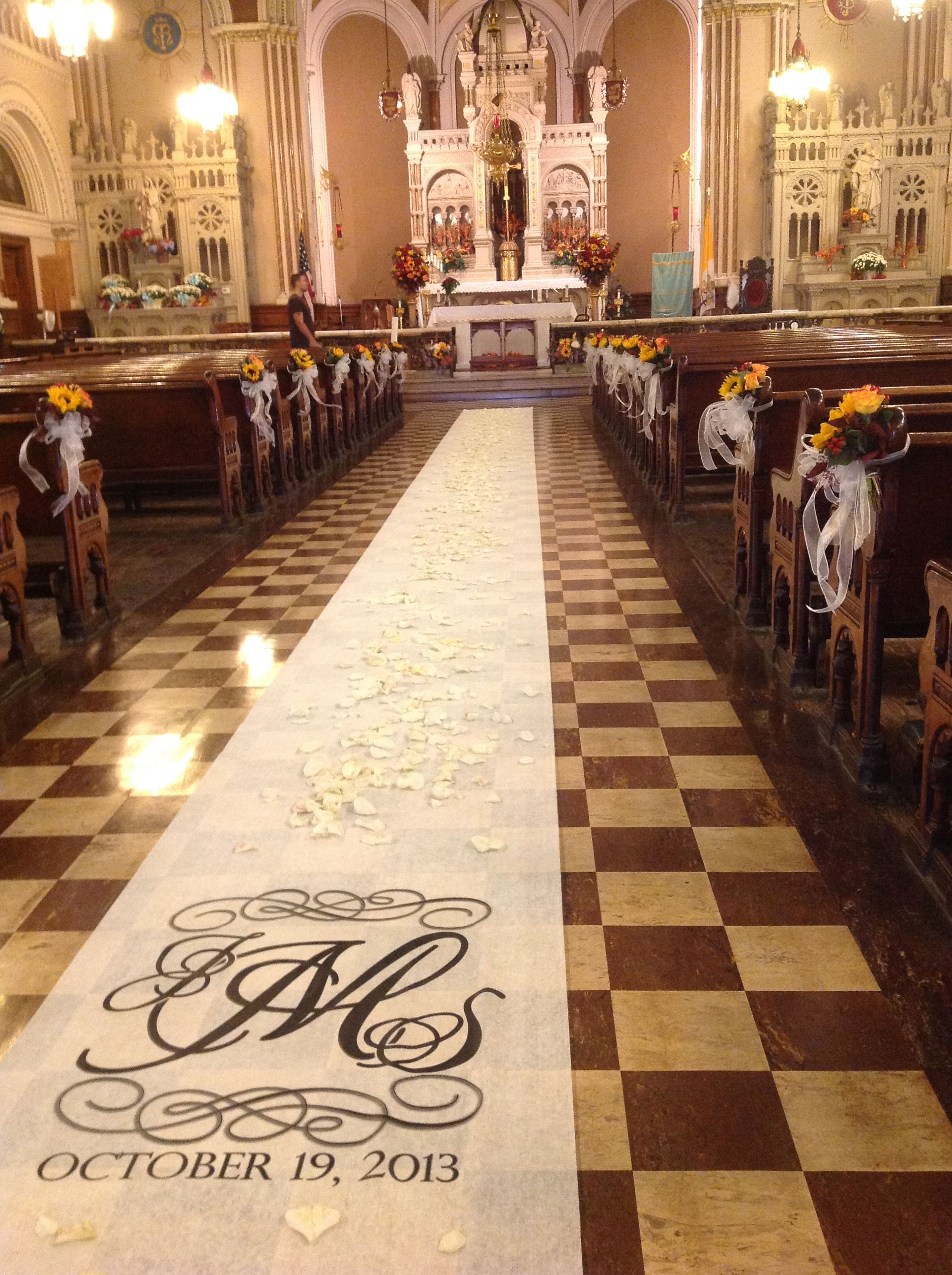 church wedding aisle designed by Celebrations in Grand ...