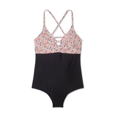 590998cc46f2b Maternity Lace-Up One Piece Swimsuit - Sea Angel - Pink Floral L #Piece,  #Swimsuit, #Maternity