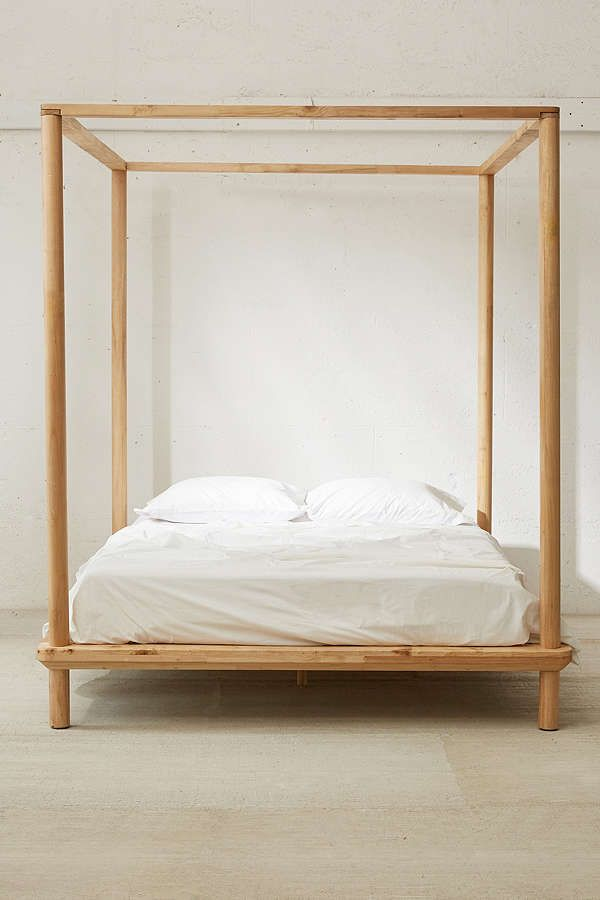 Slide View 2 Eva Wooden Canopy Bed Canopy Bed Frame Wooden