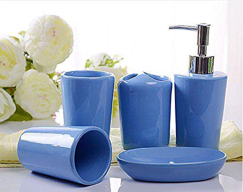 Toilet Accessoires Set : Creative wedding toilet bathroom accessories set soap dispenser pump