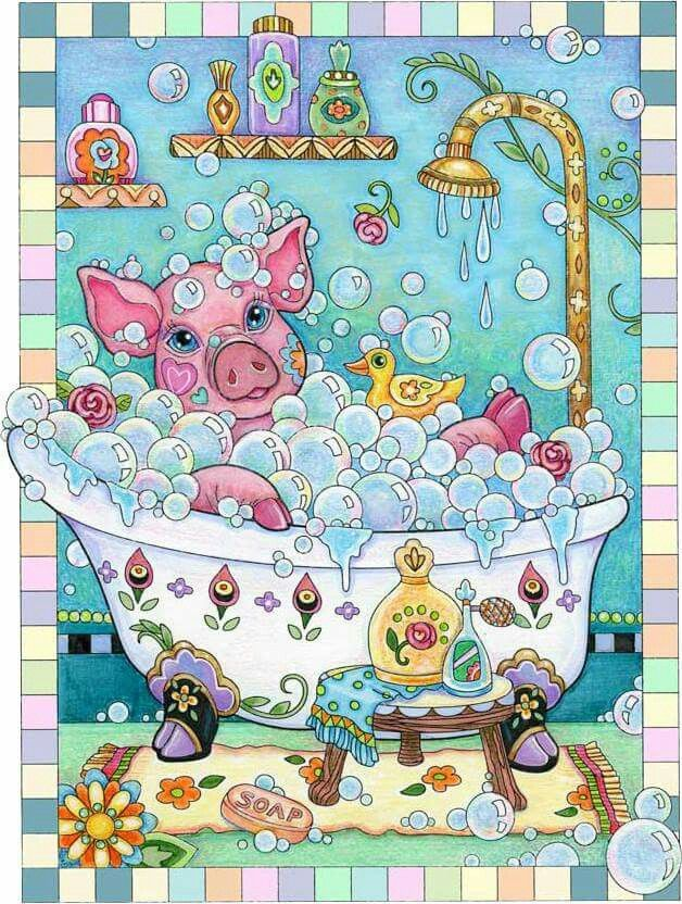 Pin By Diane Robinson On Lil Pigs Pampered Pets Coloring Book Enchanted Forest Coloring Book Mandala Coloring Books