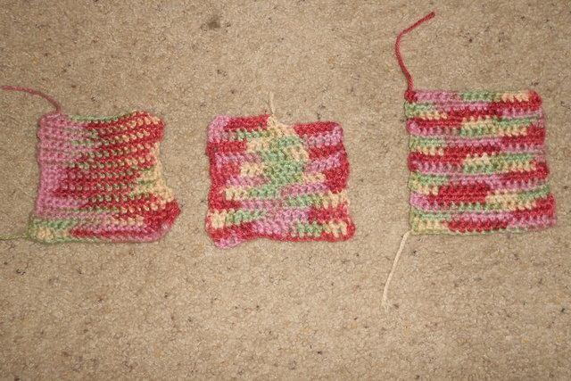 My very first crochet stitches, thanks to a craftsy class.