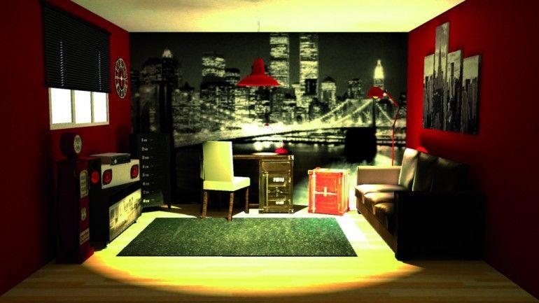Chambre adolescent style urbain mes conception 3d for Conception 3d chambre
