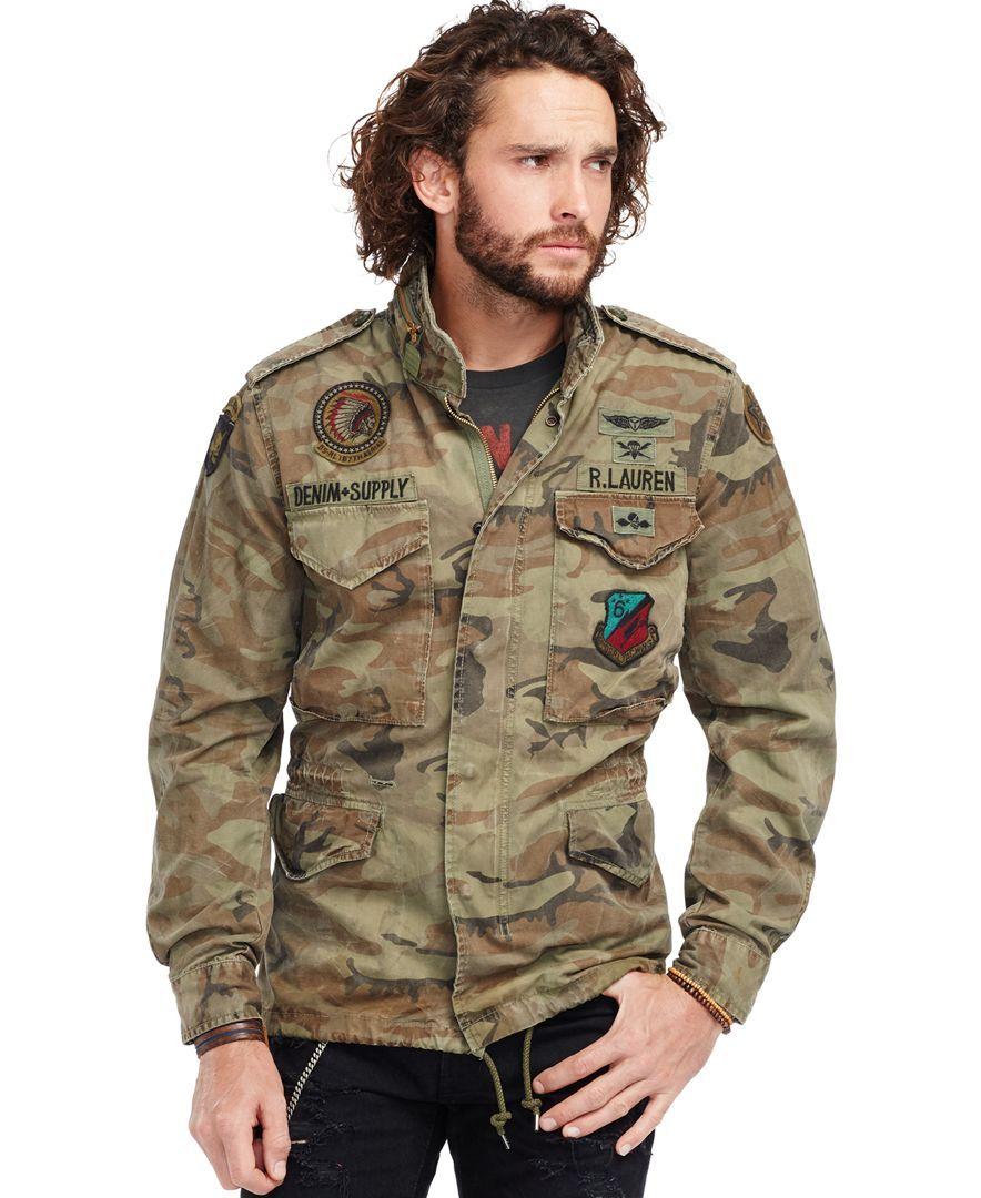 Denim & Supply Ralph Lauren Camouflage Canvas Field Jacket
