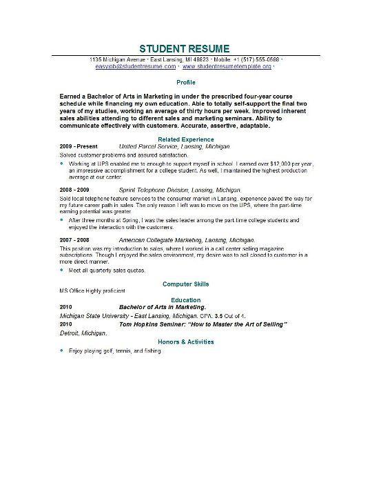Graduate School Resume Template Resume Template Builder -   www