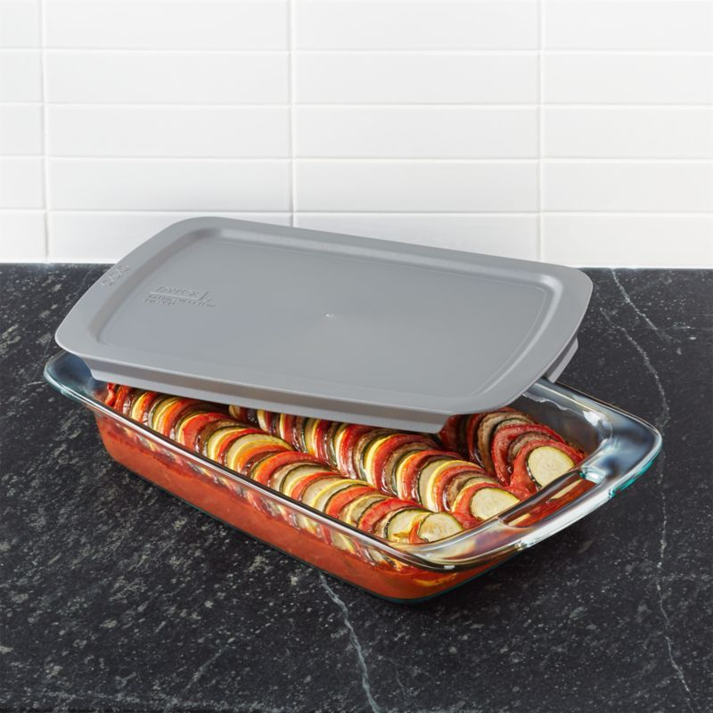 Pyrex Rectangular Baking Dish With Lid Crate And Barrel