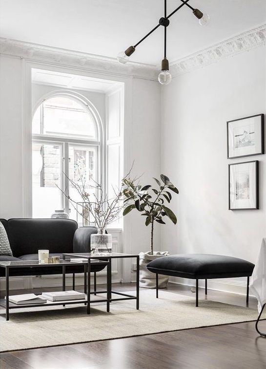 White walls and walnut floors - via Coco Lapine Design Cheap home