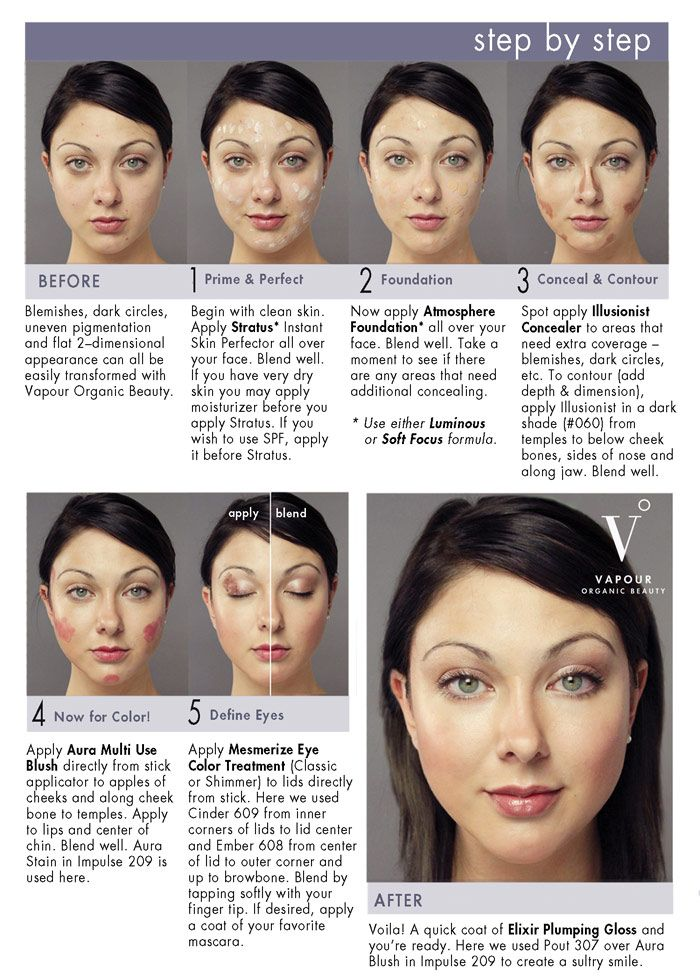 Pretty And Natural Makeup Step By Step Using Vapour Products How To Apply Makeup Vapour Organic Beauty Makeup