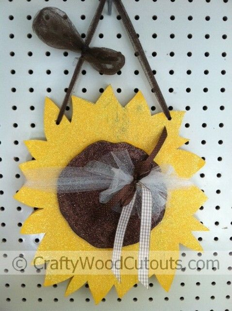 New sunflower autumn wooden craft projects wooden crafts wood hanging sunflower wooden craft project at crafty wood cutouts sciox Images