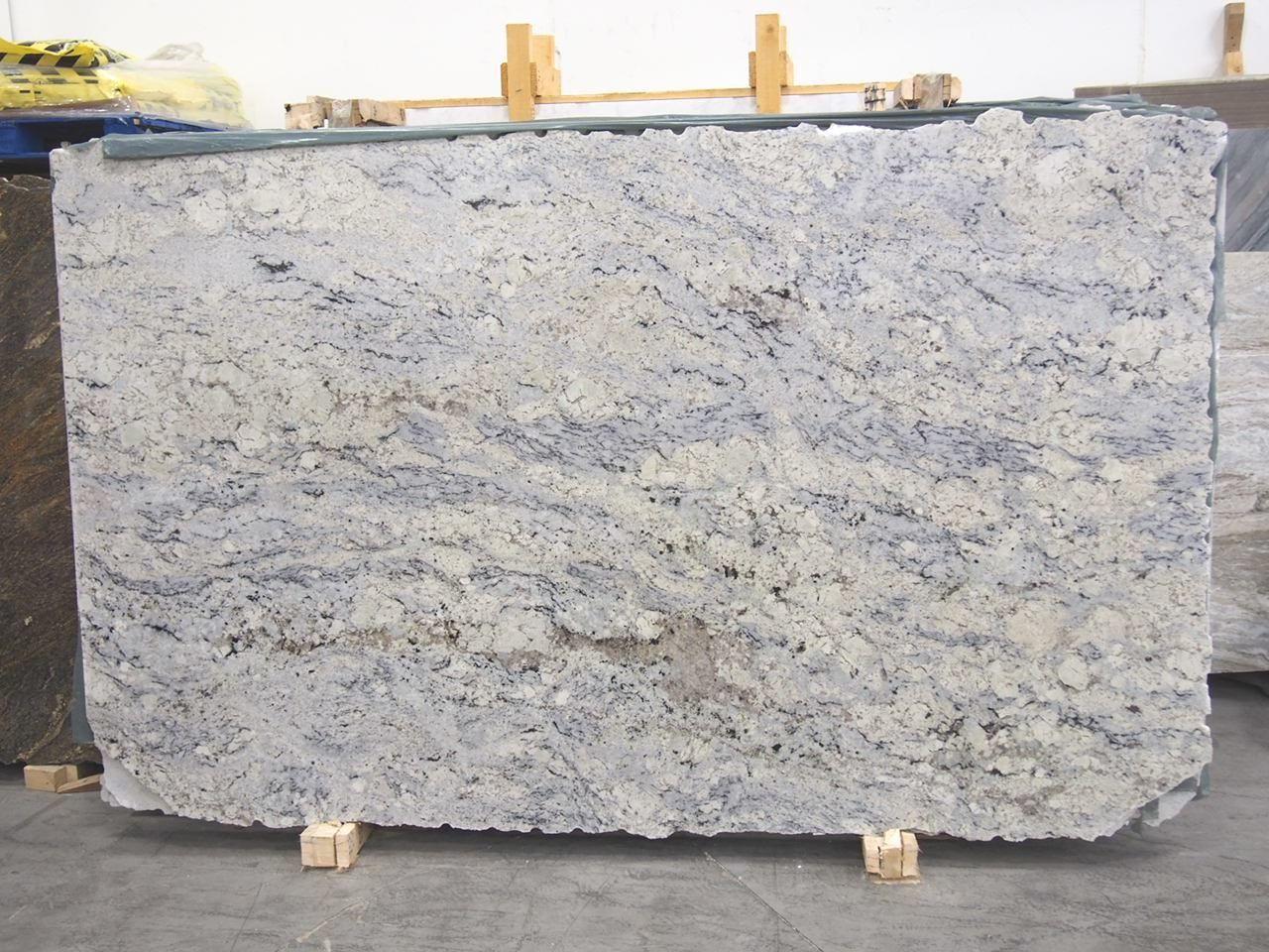 Aspen White Granite Slab Sold By Milestone Marble Size 125 X 76 X 1 1 4 Inches White Granite Slabs White Granite Granite Slab