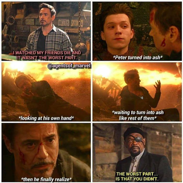 In Infinity War, Tonys worst nightmare came true.