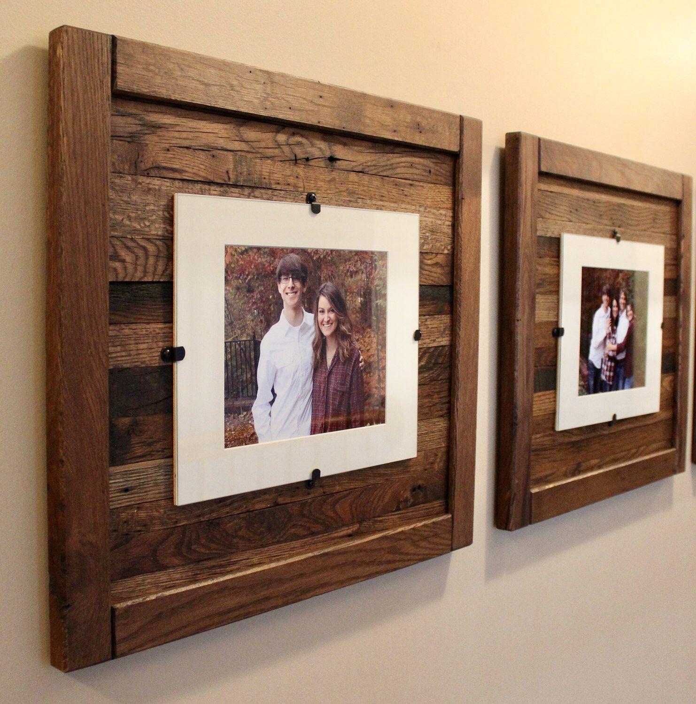 "Barn Wood Horizontal Rustic Panel Picture Frame Displays 3  5/"" x 7/"" Photos"
