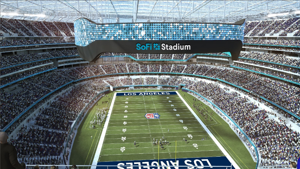 Cisco Inks Tech Partnership With Sofi Stadium Hollywood Park In 2020 Stadium Stadium Architecture Nfl Stadiums