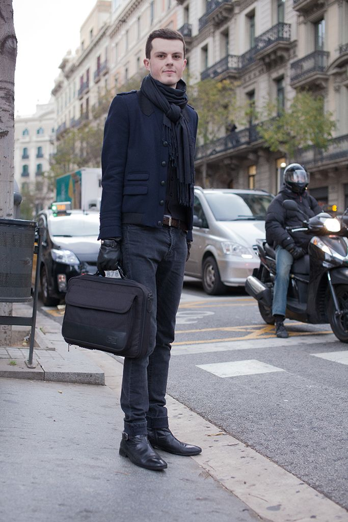 French man. Barcelona. December, 2012. | Mens wear ...
