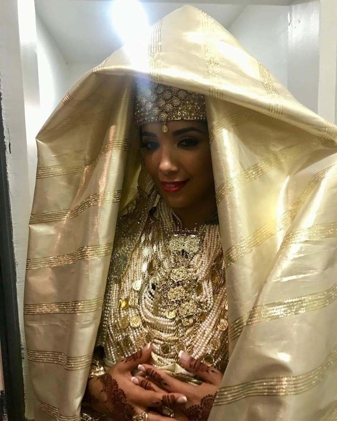 Algerian bride   Chedda Tlemcenia-Traditional Algerian Wedding Dress ...