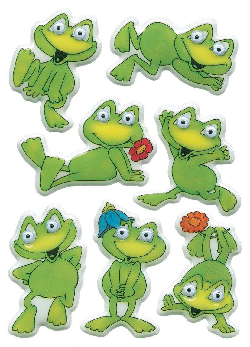 Sticker Herma Magic Lustiger Frosch Wackelaugen Pg1bl Frog