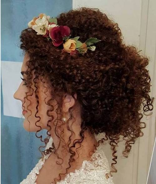 40 Creative Updos For Curly Hair Avec Images Longueur De