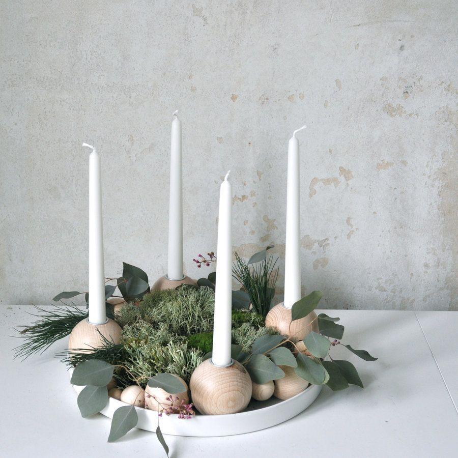 Esszimmer weihnachtlich dekoriert