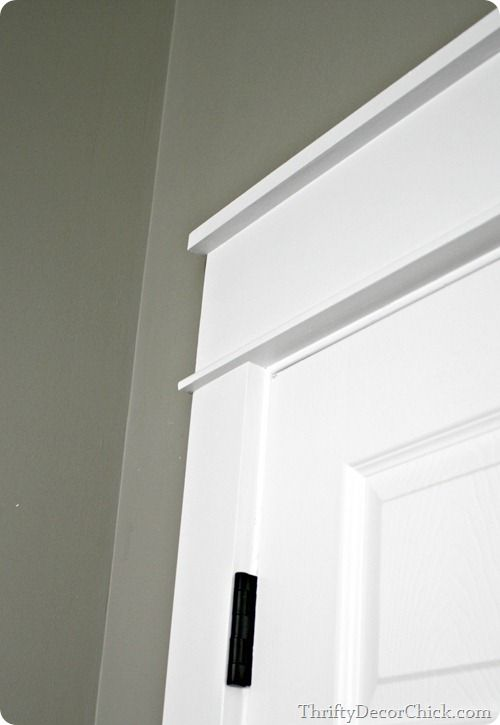 Replacing the door trim with thick craftsman trim love for Mission style moulding