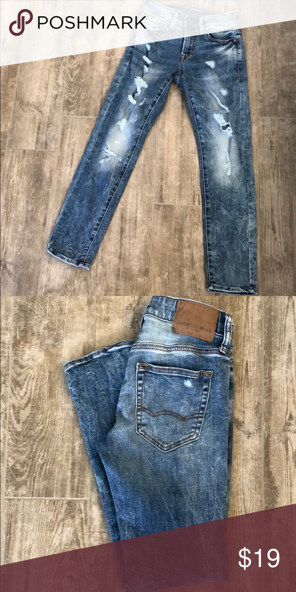2d888fe2c11 AE Next Level Skinny Jean AE Next Level Distressed Skinny Jean Size 26 x 28