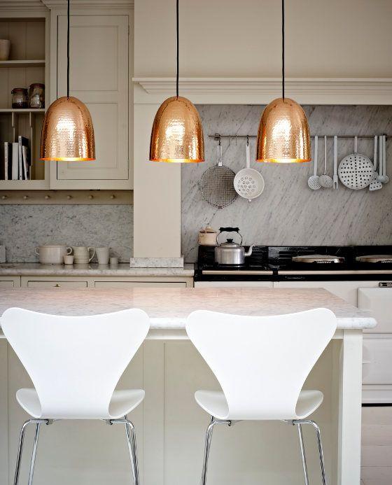 Fabulous Beaten Copper Lampshades Beautiful Kitchens Home Kitchen Design