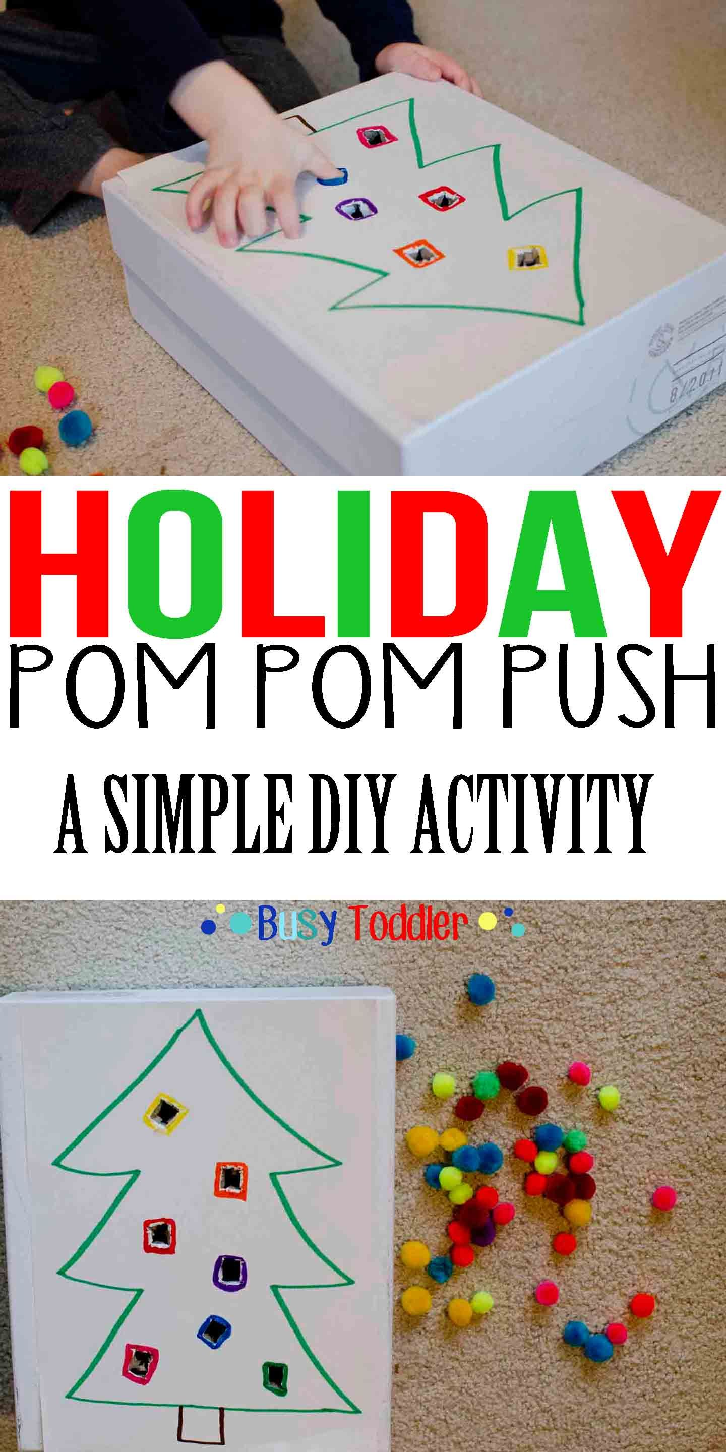 Holiday Pom Pom Push Seb Activities Pinterest Navidad