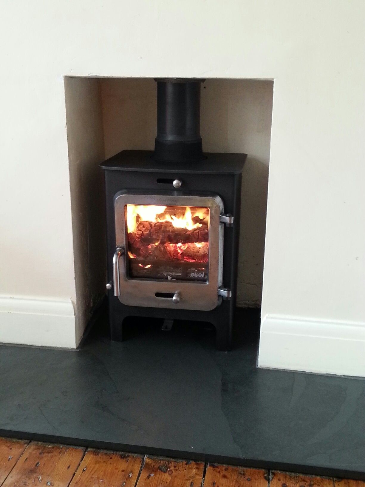 ekol clarity vision 5kw stove with burnished door stoves