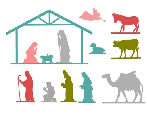 Nativity Free Printable  Free printable Free and Silhouettes
