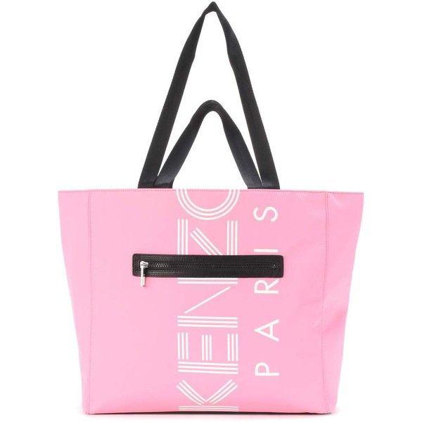67826683b0 Kenzo Logo Printed Tote ($225) via Polyvore featuring bags, handbags, tote  bags, pink, shoppers, pink tote bags, shopper tote, handbags totes, kenzo  tote ...