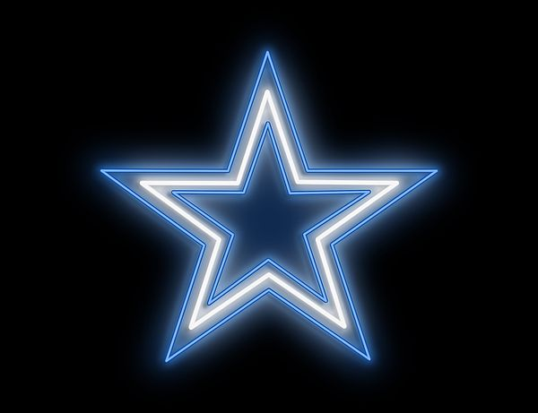 Cowboys Star Neon Sign by Ricky Barnard in 2020   Neon