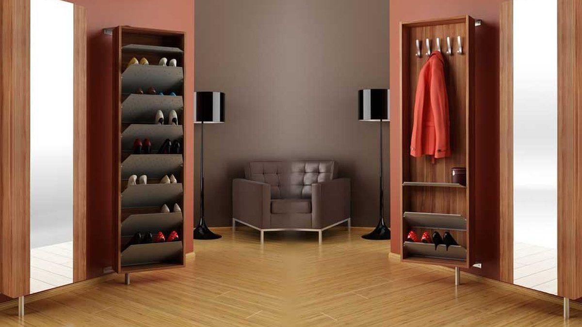 Zestaw Wysokich Szafek Na Buty Z Przegrodkami Do Przedpokoju Pierwsza Szafka Sluzy Typowo Do Przechowywania Butow I Moze Stac Sie Wy Furniture Home Decor Home