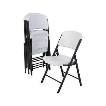 Lifetime Commercial Folding Chairs 4 Pack Folding Chair White Folding Chairs Plastic Folding Chairs