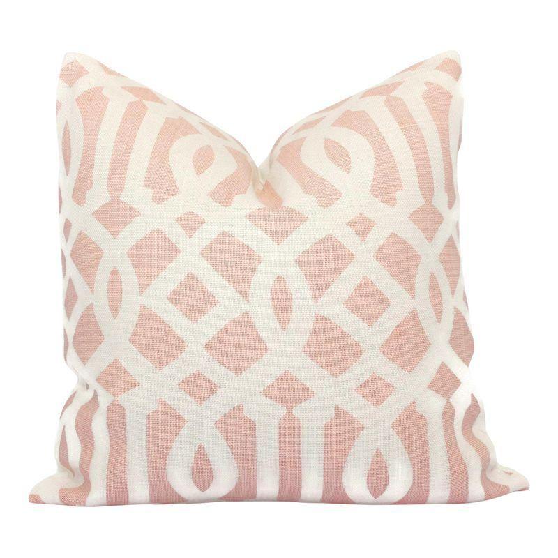 Schumacher Pink Imperial Trellis Decorative Pillow Cover In 40 Stunning Blush Decorative Pillows
