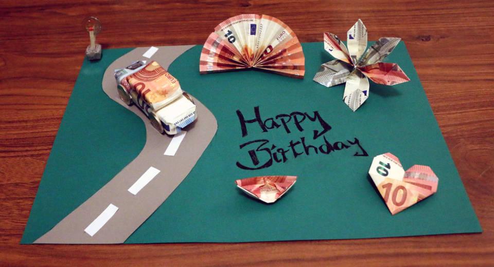 Kreatives Geldgeschenk zum 18. Geburtstag - DIY Anleitung