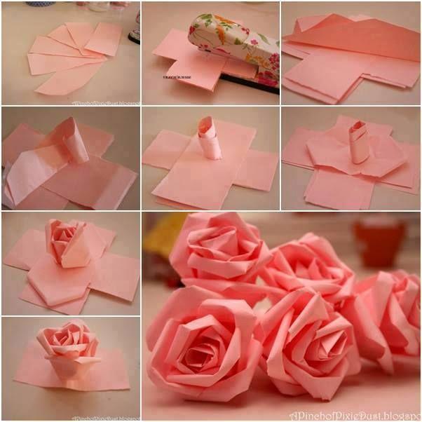 Hop o que est bombando agora no facebook manualidades how to diy easy paper roses for ganpati mightylinksfo Image collections