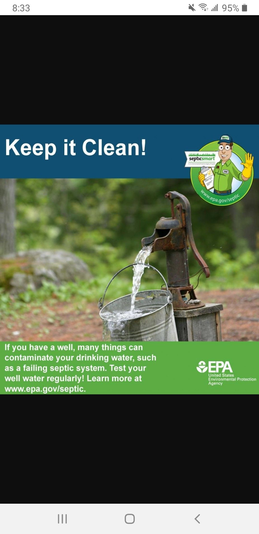 Keep it clean! in 2020 Septic system service, Septic