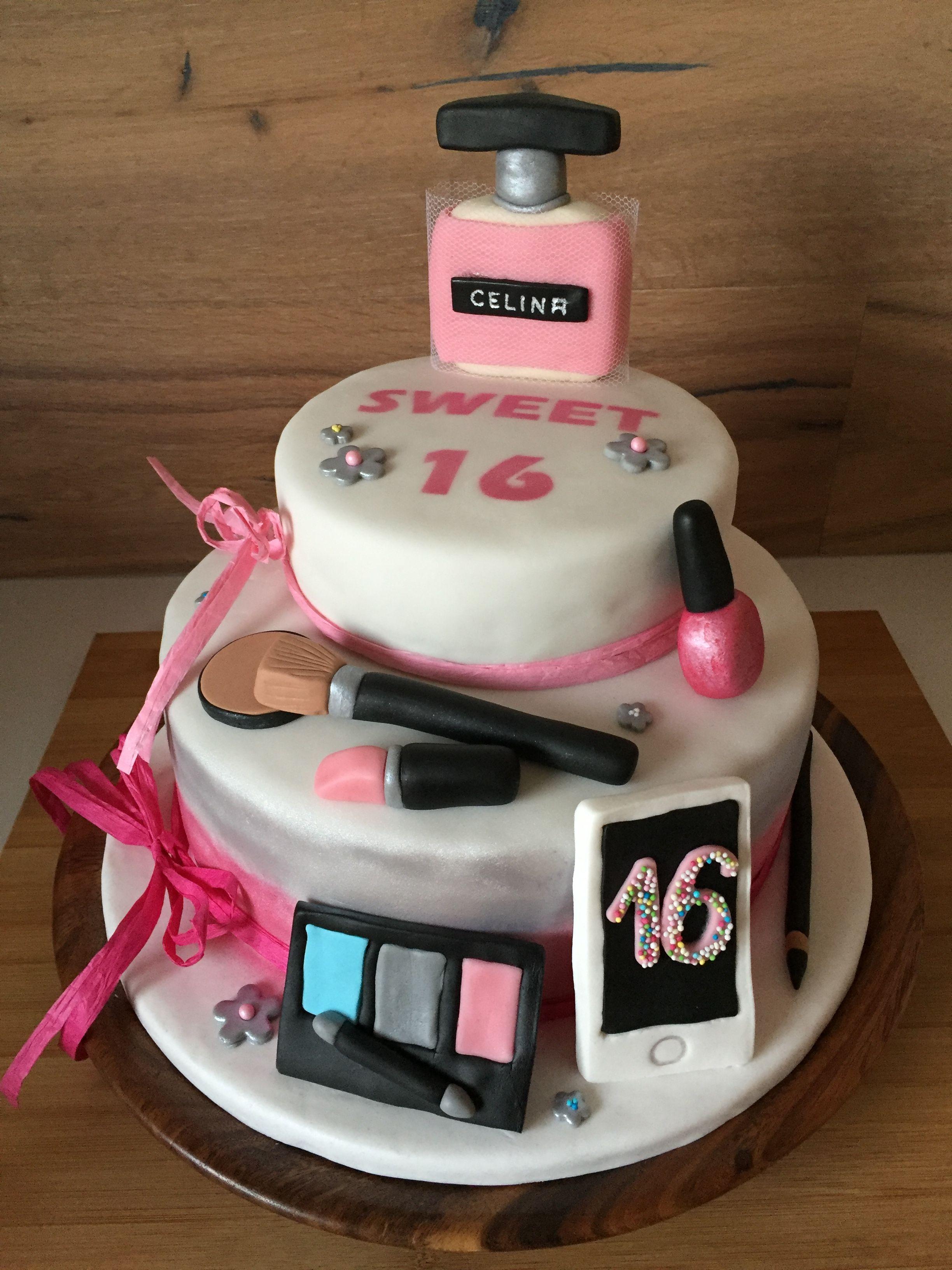 Sweet 16 Make Up Torte Motivtorte Cakes Oh My In 2019