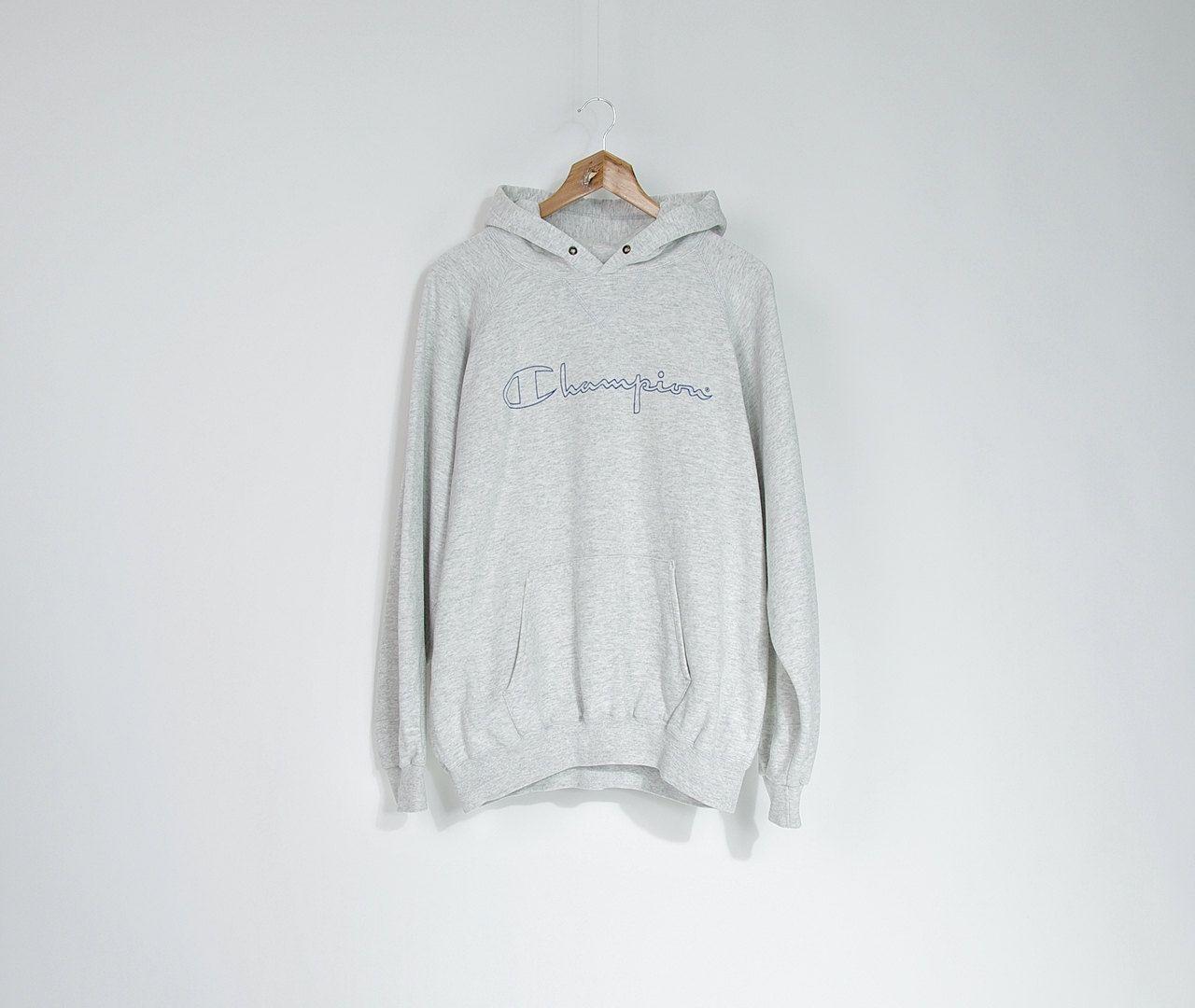 90s Champion U S A Grey Hoodie Authentic Champion Athletic Etsy Hooded Sweatshirt Men Grey Hoodie Sweatshirts [ 1080 x 1280 Pixel ]