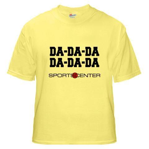 771e9688d71f Da Da Da Da Da Da from TV Teez.  espn  sports  tshirt  shirt ...