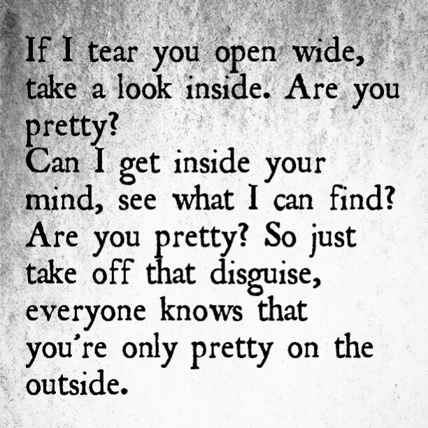 Pretty On The Outside By Bullet For My Valentine Quotes Bullet
