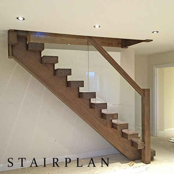 Best American Black Walnut Staircase With Glass Design Styles 400 x 300