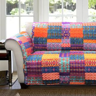 Astounding Lush Decor Misha Loveseat Furniture Protector Slipcover Ibusinesslaw Wood Chair Design Ideas Ibusinesslaworg