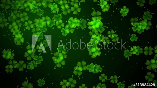 Stock Footage Of Seamless Loop Motion Green Shine Falling Leaf Clovers And Glitter Dust In Wind Background For St Pa Clover Leaf St Patrick S Day Autumn Leaves