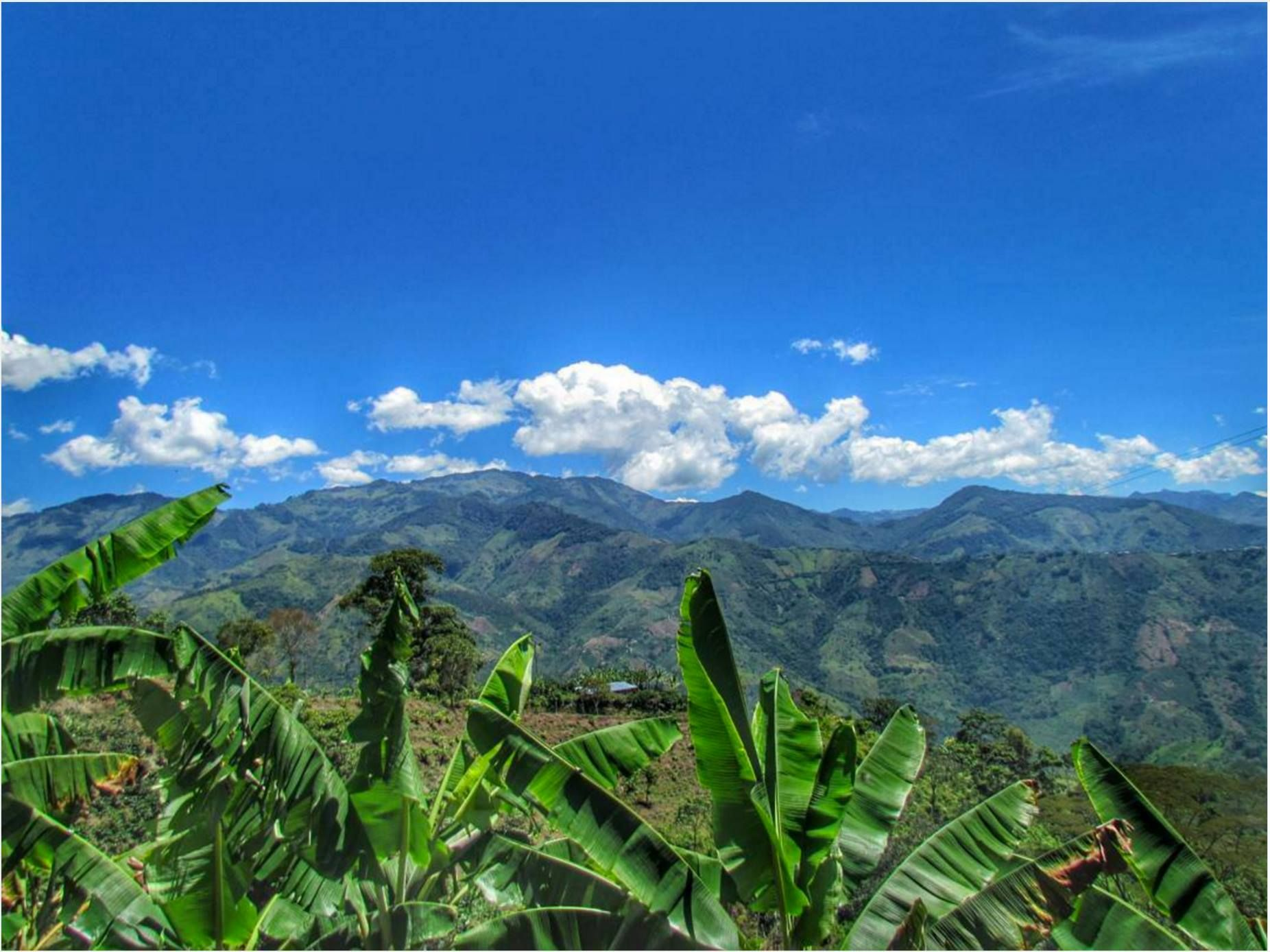 Beautiful landscape of Ibague outskirts full of mountains and nature.
