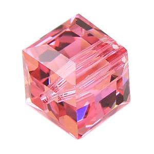 Swarovski cube beads | Bead, Swarovski Crystal Art.5040, 6mm Briolette Bead, Vintage Rose
