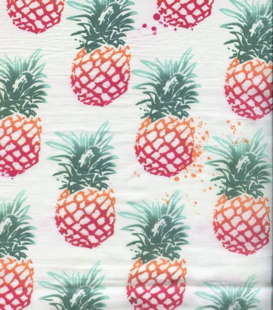 Tropical Poly Fabric-Ombre Pineapple