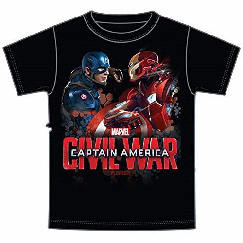 Marvel Avengers Captain America VS Iron Man Civil War Tee ...