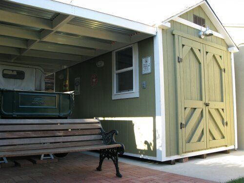 Beau Custom Storage Shed With Lean To Car Port In Los Angeles