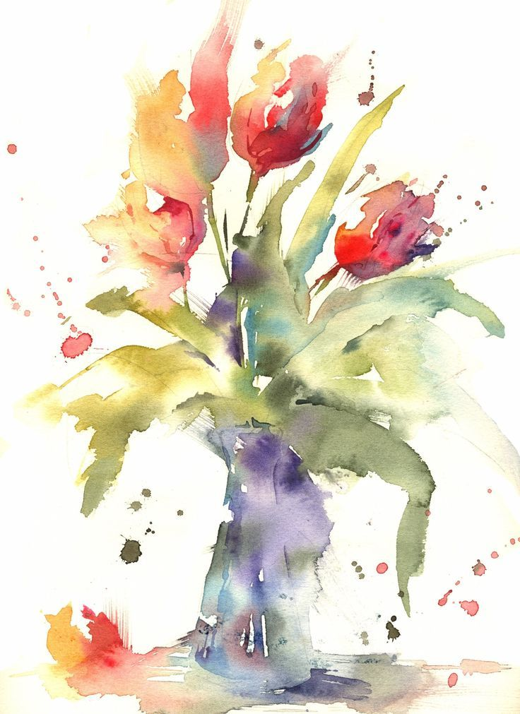 Simple Loose Watercolour Tulip S With Andrew Geeson Watercolor